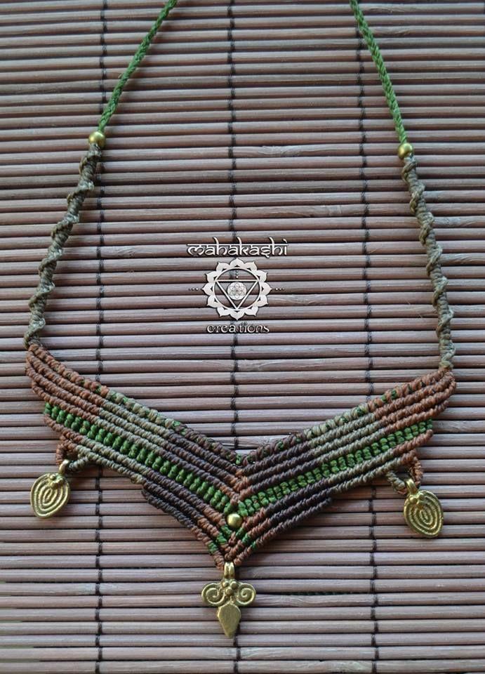 Macramè tribal primitive necklace