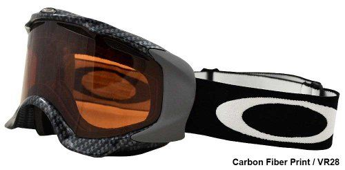 Oakley  Twisted(TRUE CARBON FIBER/VR28) by Oakley. $51.65. You might have a few screws loose, especially if you blast down the mountain mid-blizzard without the small-to-medium Twisted Goggle keeping your vision clear. Blowing snow and blinding sun would force you to slow your ludicrous speed if you didn't have this goggle's flexible frame forming to your smaller-sized face. Once on your head or over your helmet, this goggle's vented lens stays clear and blocks all ...