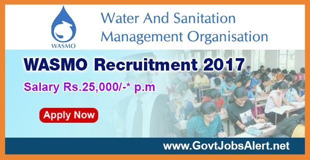 The Water and Sanitation Management Organization - WASMO Recruitment 2017 has released an official employment notification inviting interested and eligible candidates to apply for the positions of Assistant Manager (Technical), Assistant Manager (Social), Assistant / Deputy Manager (Water Quality), Accountant, Deputy Manager (Finance) and Receptionist.   #Accountant #Accountant Jobs #Accountants #Assistant Manager #Assistant Manager Jobs #B.Com #B.com graduate job #B.Sc #De
