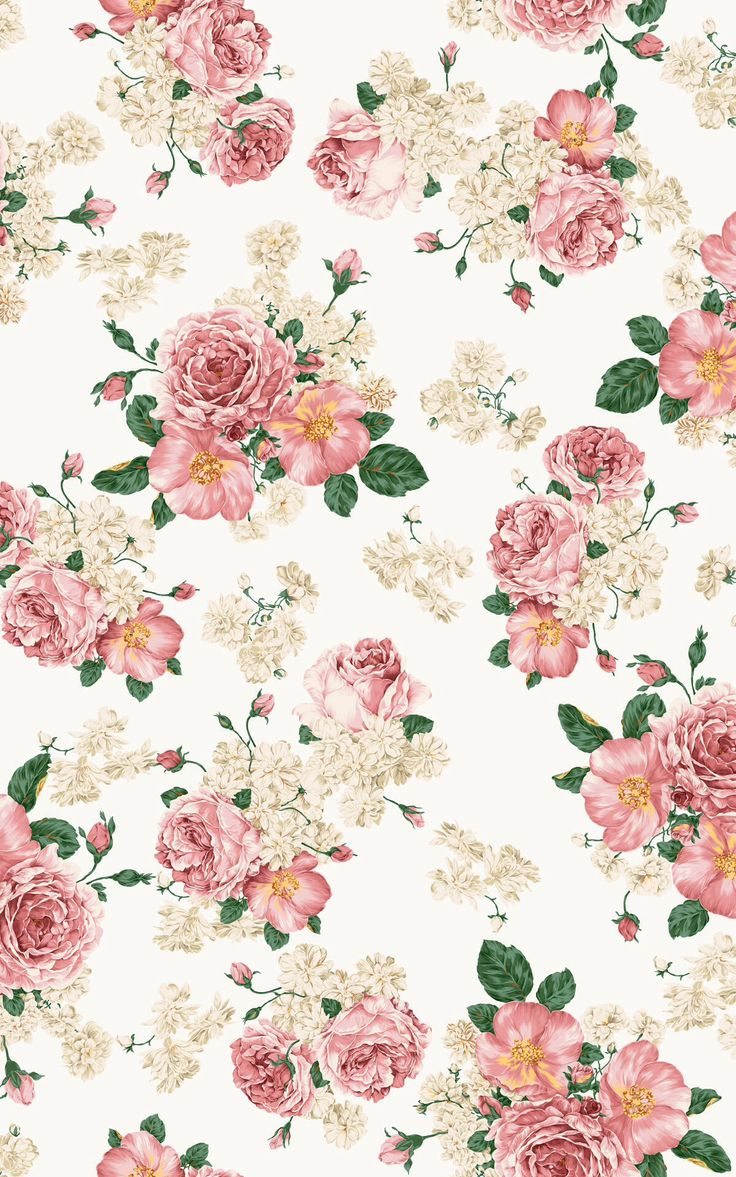 floral iphone wallpaper vintage pinterest flower