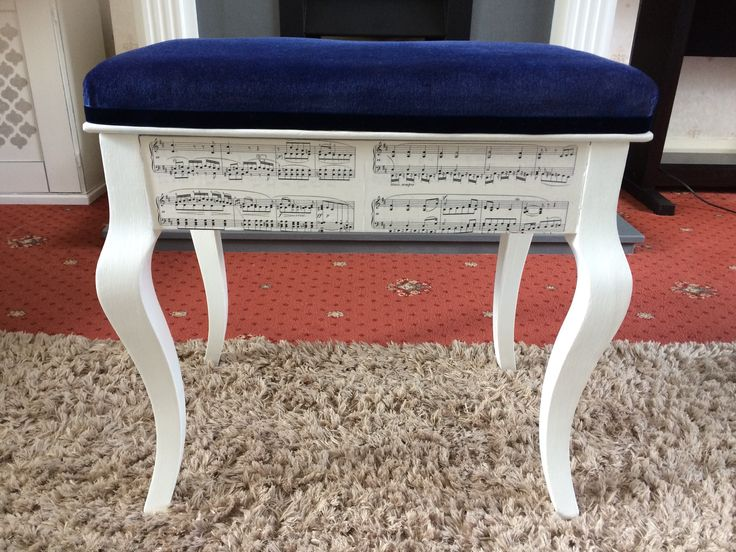 How to use sheet music to decoupage an old piano stool.