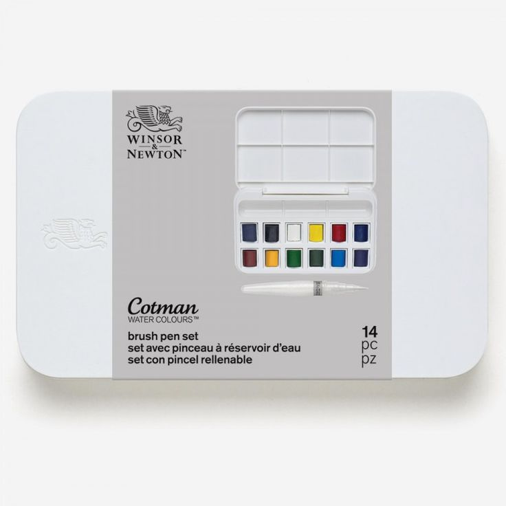 Winsor And Newton Cotman Water Brush Pen And Watercolours Set
