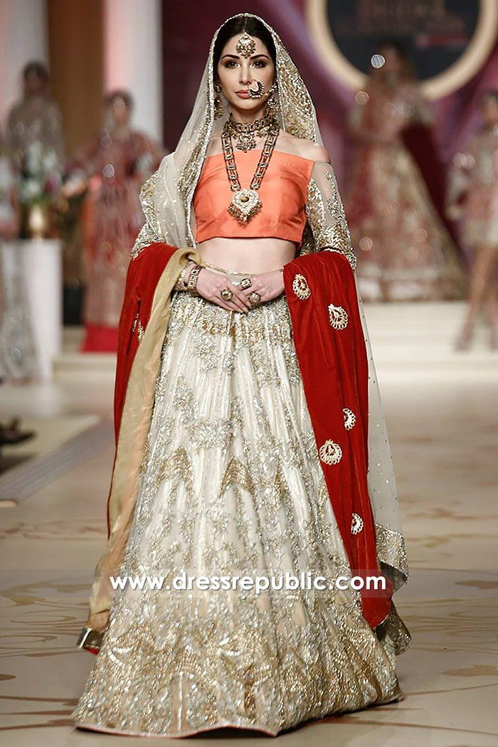 Pakistani Designer Bridal Lehenga 2018 Chicago Shop Online DR14486
