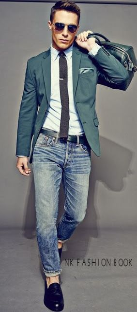 Blazer and jeans Outfit For Men's                                                                                                                                                                                 More
