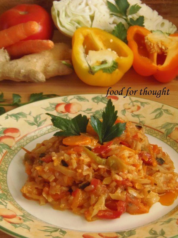 Πικάντικο λαχανόρυζο με τζίντζερ και κολοκύθα http://laxtaristessyntages.blogspot.gr/2013/11/pikandiko-laxanorizo-me-tzintzer-kai-kolokytha.html