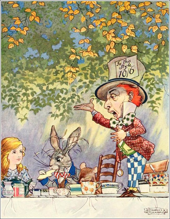 Charles Folkard, Songs from Alice in wonderland and Through the looking-glass.