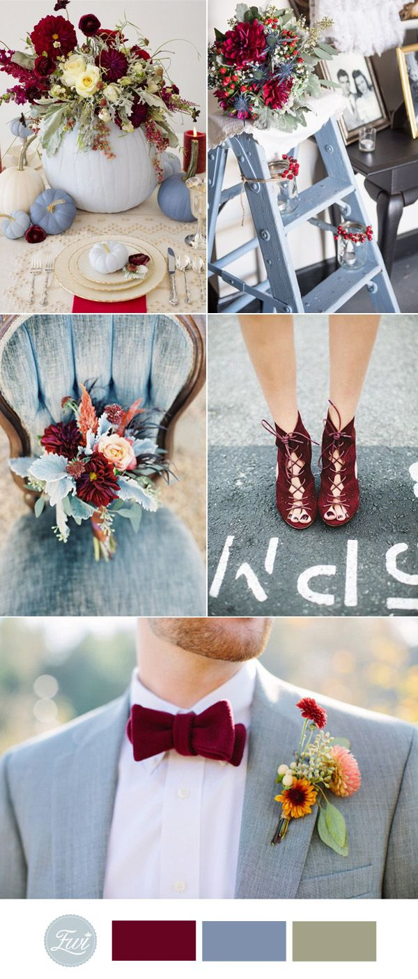 niagara and marsala wedding color ideas for 2017 autumn