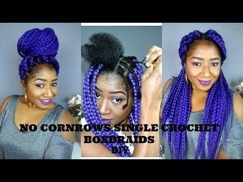 Diy Individual Crochet Box Braid No Cornrow New Method