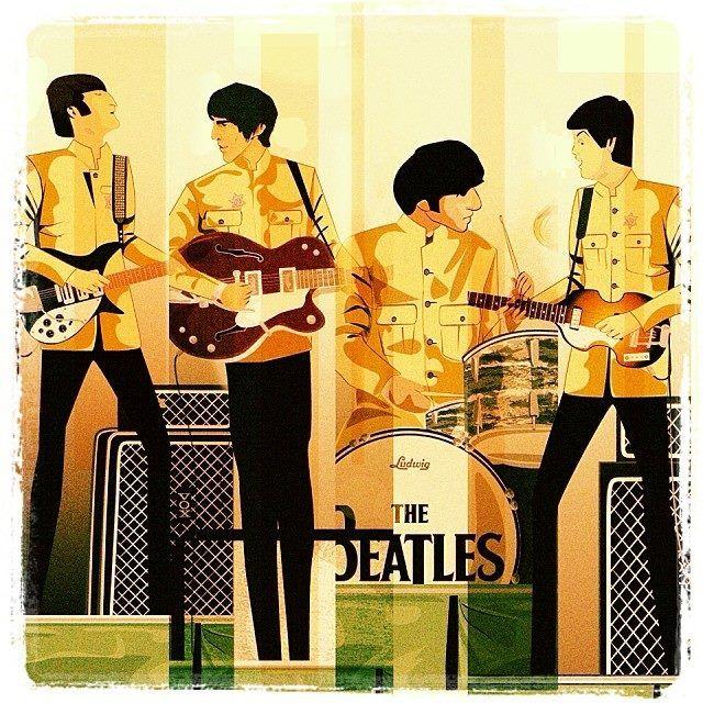 The Beatles, Shea Stadium Ilustración Digital