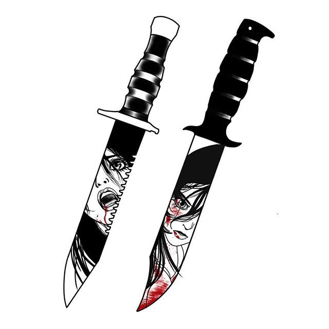 Картинка ножа тату