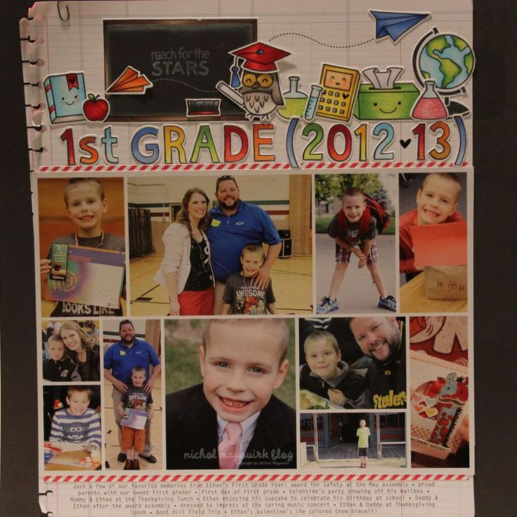 Cute Back to School Scrapbook Page Using Lawn Fawn Dies and Stamps