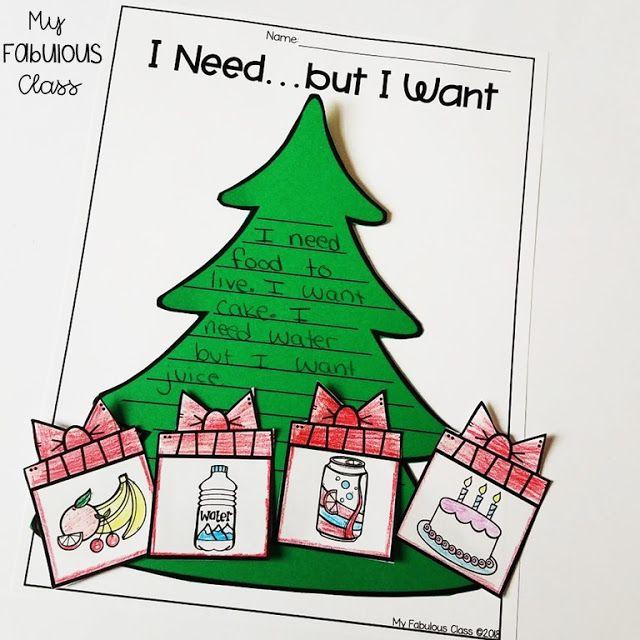 Dieser Weihnachtsbaum von Needs and Wants ist eine süße Art, die Feiertage mit … – Christmas Classroom 2019
