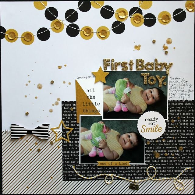 A Touch Of Gold Layouts - Artfull Crafts