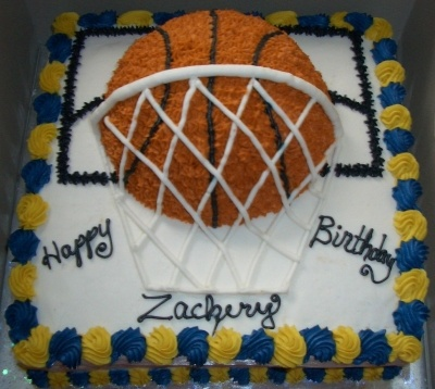 buttercream Basketball Cake...I sooo want this for my Birthday!