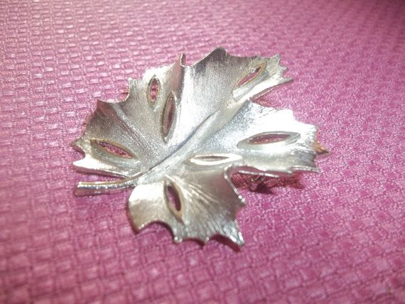 Gorgeous B.S.K. Brushed Silver Maple Leaf  by GrammyKayesCreations