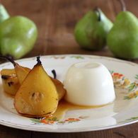 Saffron Roasted Pears with Verjuice Panna Cotta - Maggie Beer
