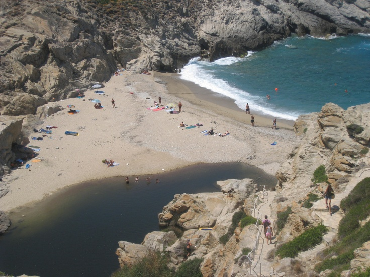 The beach of Nas in Ikaria, Greece.