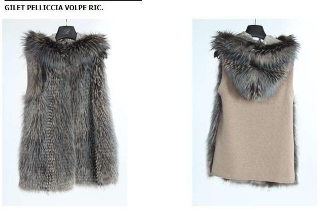 9501 E GILET PELLICCIA VOLPE RIC. PELLICCIA DI VOLPE ARGENTATA-90%WO 10%WS | Одежда для женщин