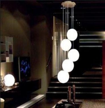 Lumen Center IceGlobe Bubble, 5 lampen Hanglamp