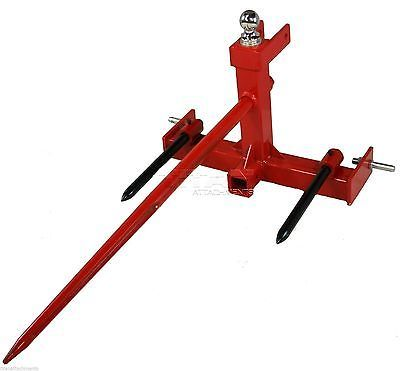 3 Point Hay Spear Bale Spike Gooseneck Trailer Receiver Hitch tractor attachment…