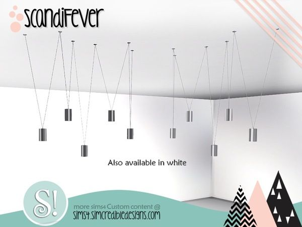 Simcredible S Scandifever Ceiling Lamp Sims 4 Sims 4 Cc Furniture Ceiling Lamp