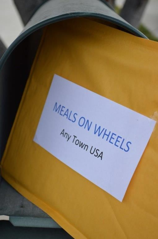 Send card to be delivered with Meals on Wheels.  This would be a great family project.