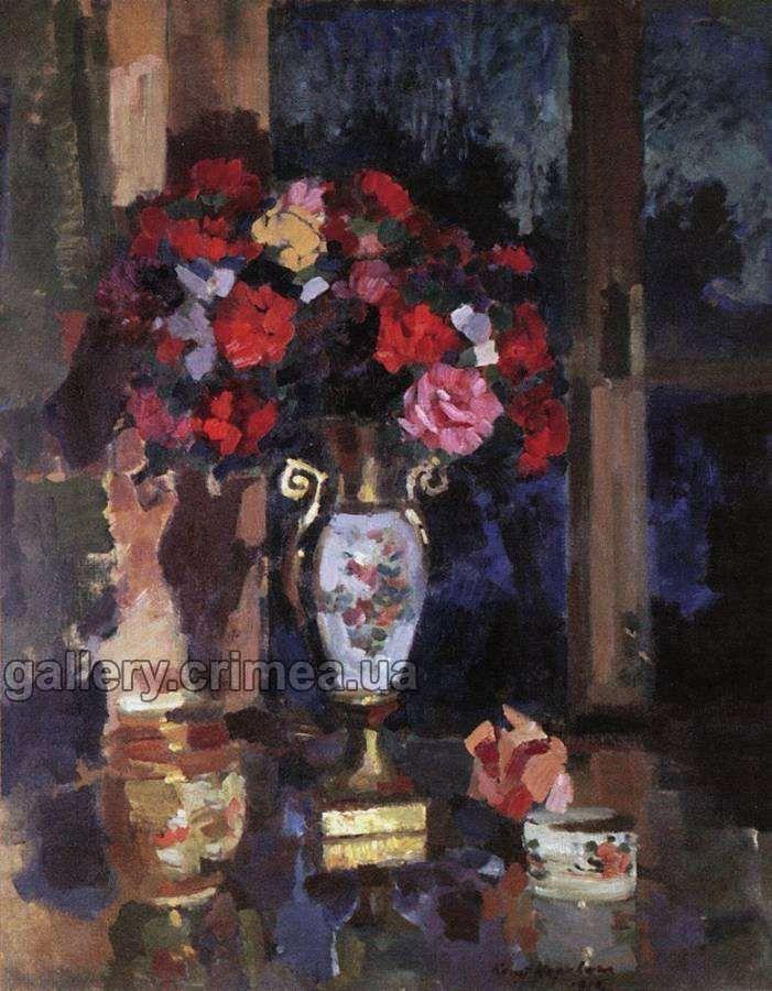 Букет бумажных роз. 1912 Коровин Константин Алексеевич