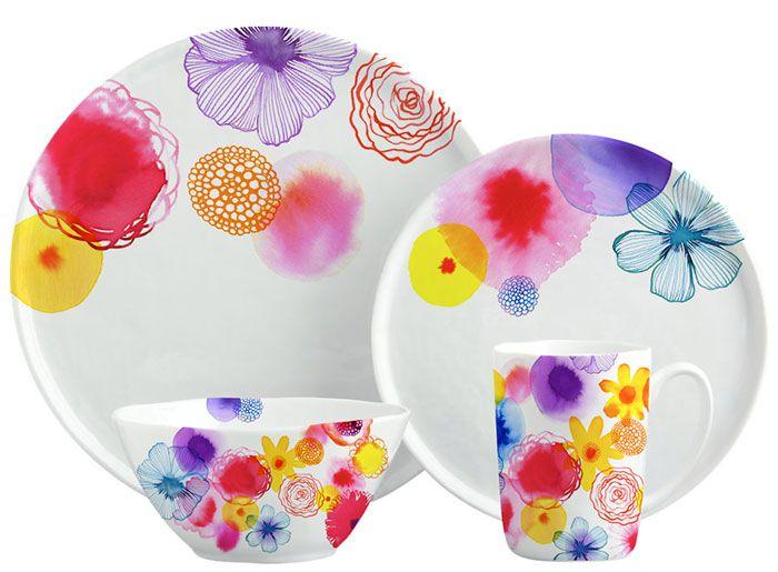 Margaret Berg Art: Floating Florals Dinnerware