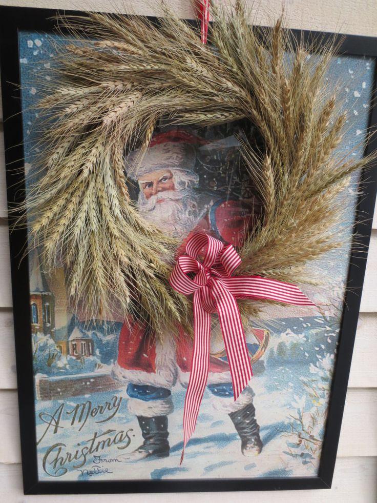 Bespoke wheat wreath for the front door.