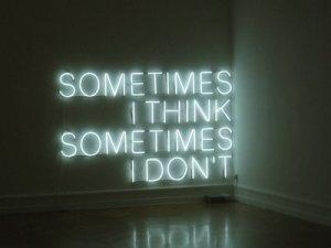 soms denk je na, soms niet