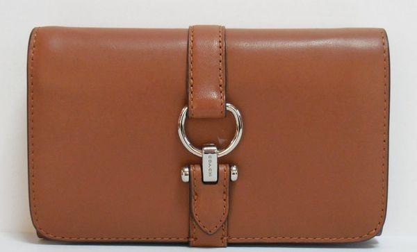 コーチ 財布 レディース 53714SVSD グラブタン レザー ノマド ミディアム ウォレット 二つ折り財布 サドル