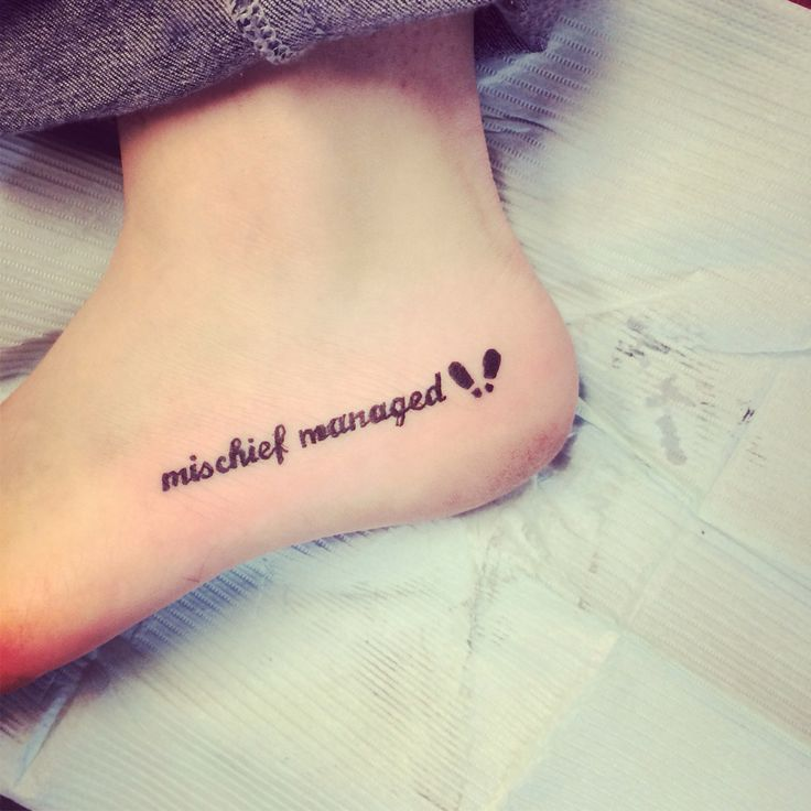 Mischief Managed Foot Tattoo | www.imgkid.com - The Image ...