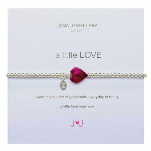 Joma Jewellery A Little Love Bracelet in Pink £10.99 at www.macmillansgifts.co.uk
