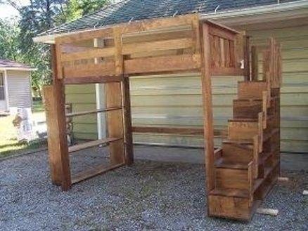 Bunk Bed Bookshelf - Foter