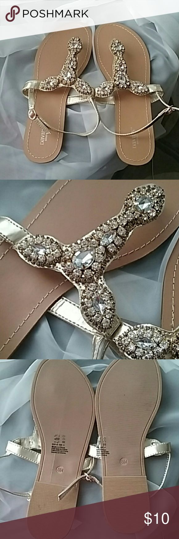 Beautiful sandals Worn one time davids bridal Shoes Sandals