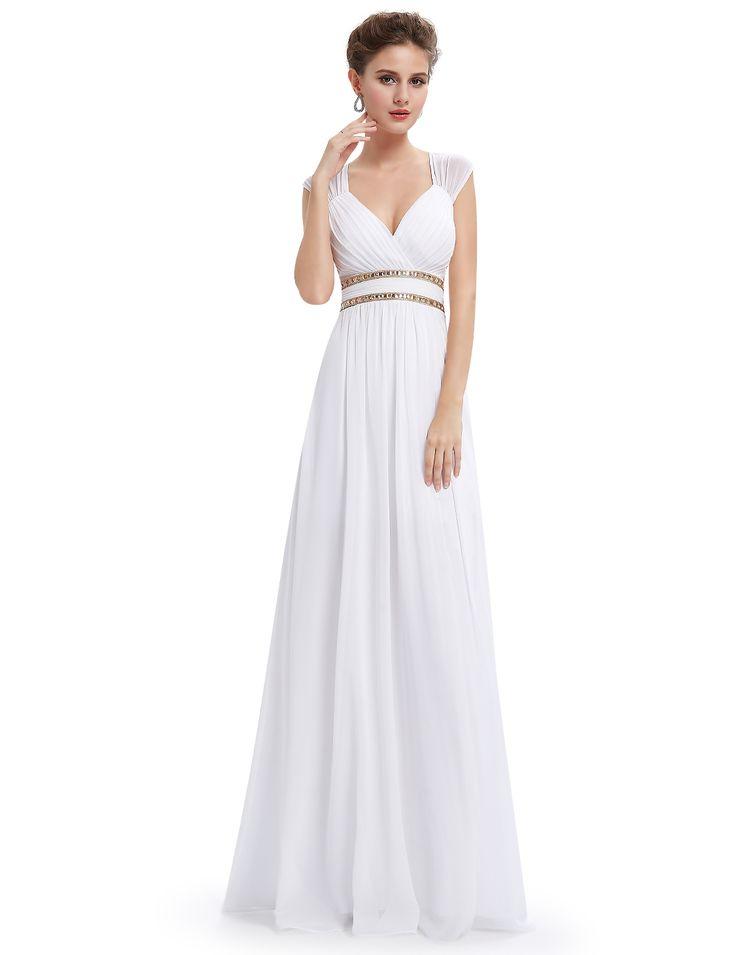 Elegant white prom dress!