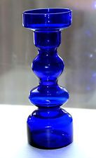 Vintage Art Glass Bulb Forcing Vase Crocus / Hyacinth Cobalt Blue 7""