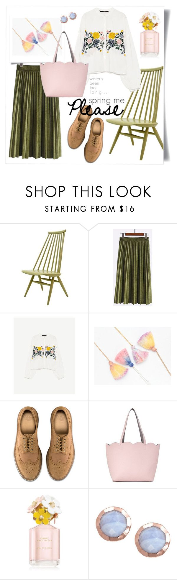 """""""Spring me Please"""" by heyou-eu ❤ liked on Polyvore featuring Dr. Martens, Deux Lux, Marc Jacobs, Spring, floral and embroidered"""