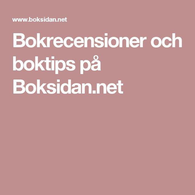 Bokrecensioner och boktips på Boksidan.net