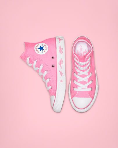338848ab724c Chuck Taylor All Star Dinoverse High Top Pink White White