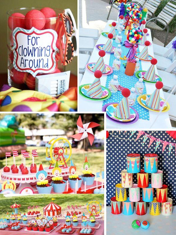 Idées et inspirations pour un goûter d'anniversaire cirque haut en couleurs et en pitreries qui ravira les plus petits !
