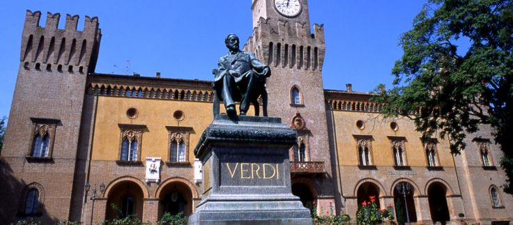 Piazza Verdi in Busseto (Parma, Italy)