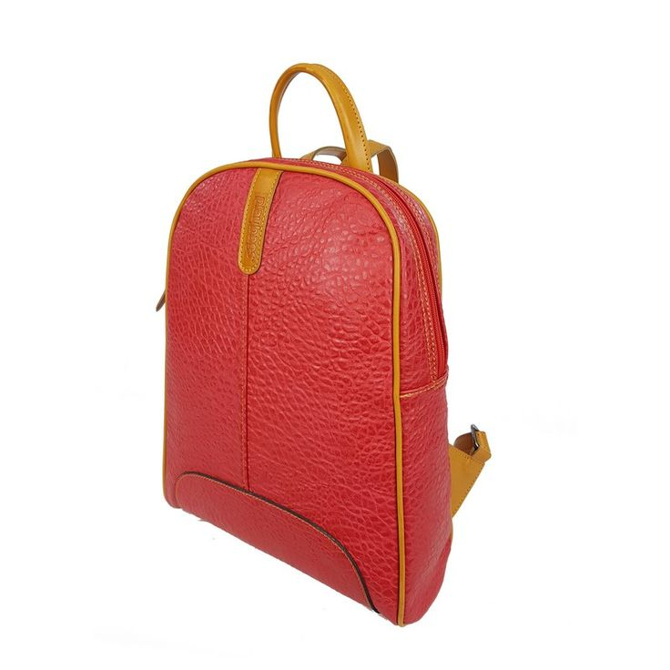Handmade Backpack for Women, Red