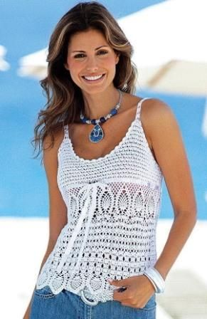 Summer Strappy Top free crochet graph pattern