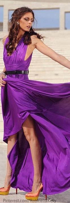 Olivia Palermo for Haute Muse Magazine.  Would love it without the black belt #purple