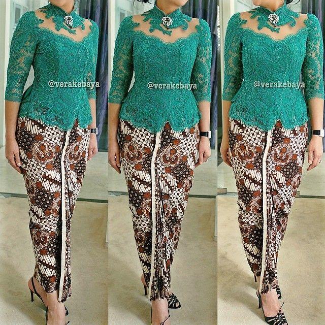 Fitting ... #kebaya #partydress #batik #lace #beads #lacelovers #verakebaya