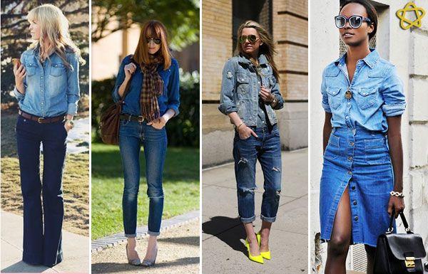 """Jeans é sinônimo de conforto e praticidade. E, ainda, uma tendência atemporal. A novidade é usar o look """"all jeans"""", mesmo que com tons de lavagens diferentes. Além disso, nas últimas passarelas, vimos muitas modelagens e detalhes em recortes diferentes"""