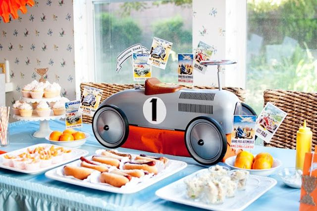 Indy-500 Race Car 1st Birthday Party - Kara's Party Ideas - The Place for All Things Party