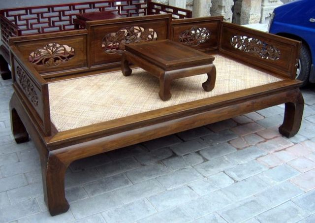 chinese opium bed