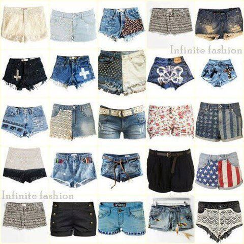 Types of shorts for women google search clothing for Types of denim shirts